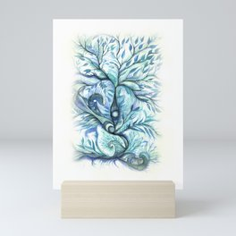 Tree of Life (blues) Mini Art Print