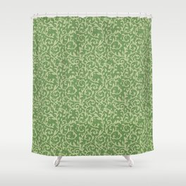 Ornamental Leafage - Pickle Color With Olive Color Shower Curtain