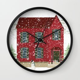 Home For Christmas Wall Clock