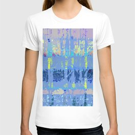 Abstract Forest Trees in Blue and Lilac T-shirt