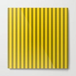 Gold Yellow Stripes Pattern Metal Print