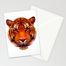 Low Poly Tiger Stationery Cards