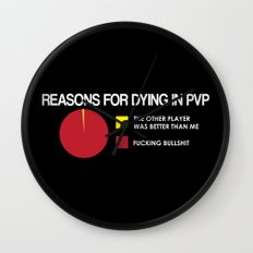 Reasons for Dying in PVP Wall Clock