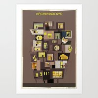 babina Art Prints featuring archiwindow building by federico babina