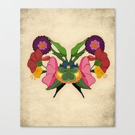 Rose-schach Canvas Print