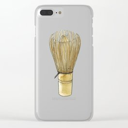 Chasen. Matcha whisk Clear iPhone Case