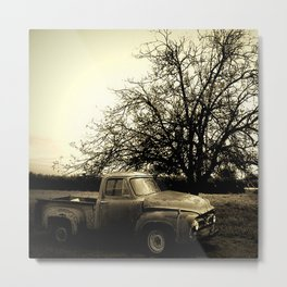 When That Old Ford Waited for Another Drive Metal Print