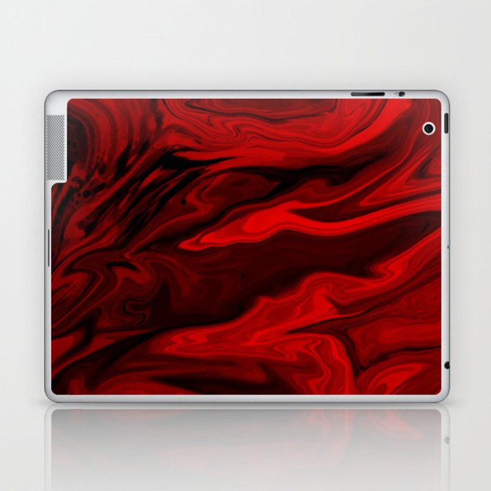 Blood Red Marble Laptop & iPad Skin