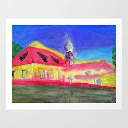 Kleine Wallfahrtskirche bei Kelheim Art Print