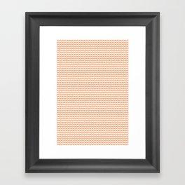 Chevron Orange Framed Art Print