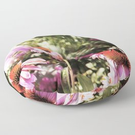 Summer in the Ether: Wild Flowers of Bright Pastures Floor Pillow