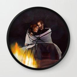 fireplace cuddles // kabby Wall Clock