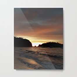 Sunset beach costa rica guanacaste Pacific ocean Metal Print