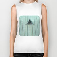 copper Biker Tanks featuring Copper Roof  by Ethna Gillespie