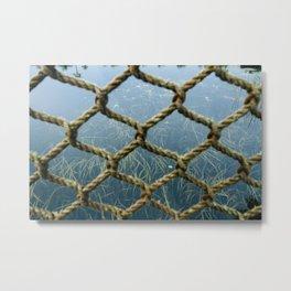 Netting Metal Print