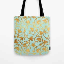 Golden Damask pattern Tote Bag