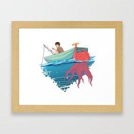 Man vs Food Framed Art Print