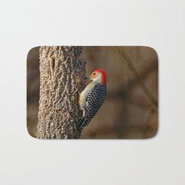 Red-Bellied Woodpecker Drumming Bath Mat