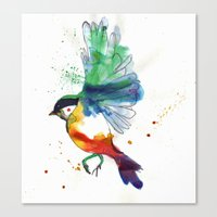 birdy Canvas Prints featuring Birdy by Annaleigh Louise