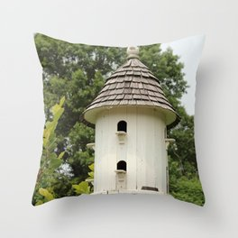 Fancy Bird House Throw Pillow