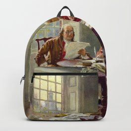 Jean-Leon Gerome Ferris's Writing the Declaration of Independence in 1776 Backpack