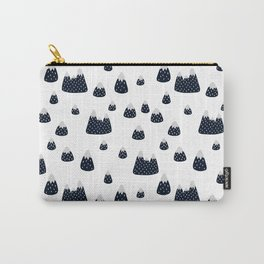 Abstract black white watercolor brushstrokes modern pattern Carry-All Pouch