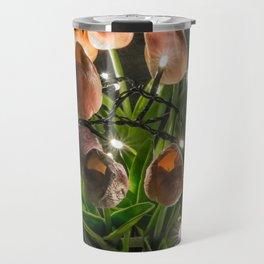 Festive Lights and Flowers Travel Mug