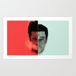 Tyler Durden V. the Narrator Art Print