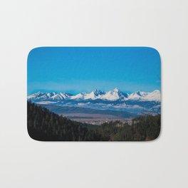 View of Tatra Mountains from Slovak Paradise National Park Bath Mat