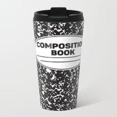 Composition Notebook College School Student Geek Nerd Metal Travel Mug