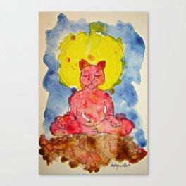ZAZEN CAT Canvas Print