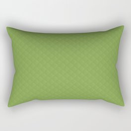 Color of the Year 2017 Designer Greenery Puffy Stitched Quilt Rectangular Pillow