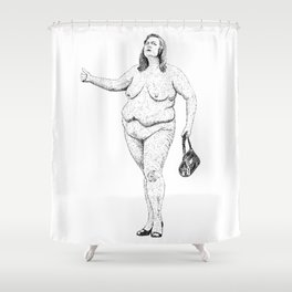 Hitchhiking Dot Shower Curtain