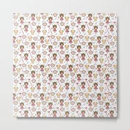 Sakura Pattern Metal Print