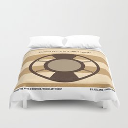 No055 My O Brother Where Art Thou minimal movie poster Duvet Cover