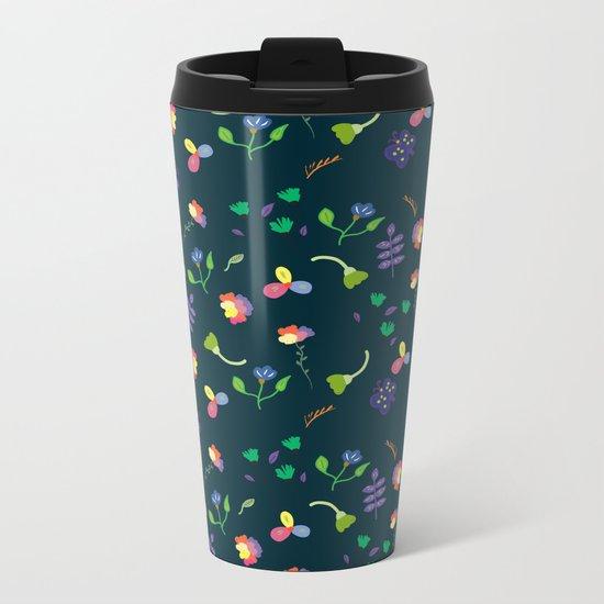 Spring Floral Pattern II Metal Travel Mug