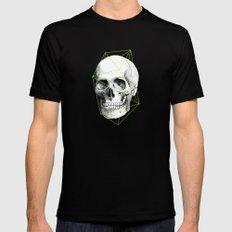 Geometric Skull MEDIUM Mens Fitted Tee Black