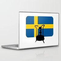sweden Laptop & iPad Skins featuring Sweden flag | Pressure stove by mailboxdisco