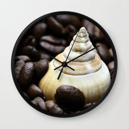 Coffee bean snail Wall Clock