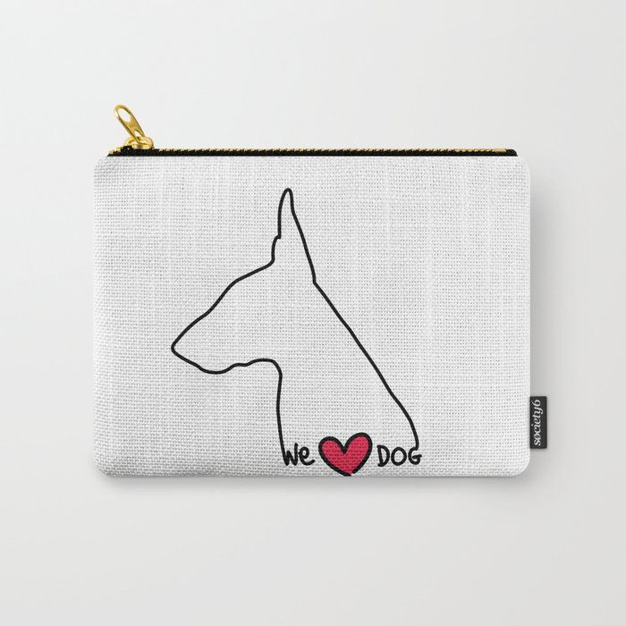 We Love Dog Carry-All Pouch