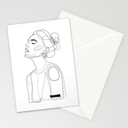 B Yellow Lip Stationery Cards
