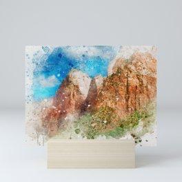 Watercolor Canyon Mini Art Print