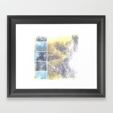 INST'ART in blue and yellow Framed Art Print