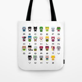 Pixel Supervillain Alphabet 2 Tote Bag