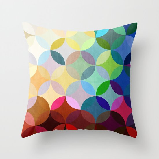 Circular Motion Throw Pillow