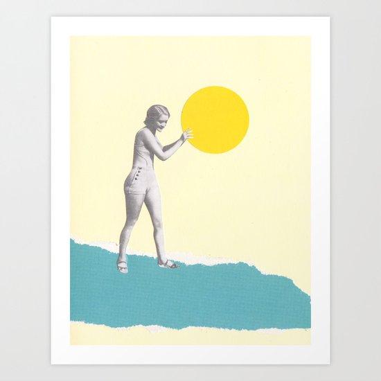 She Caught the Sun Art Print
