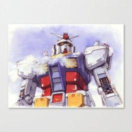 Gundam Rx-78-2 watercolor (large ver.) Canvas Print