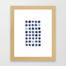 Blue cornflower pattern Framed Art Print