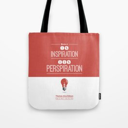 Lab No. 4 - Thomas Alva Edison Quote typography print Inspirational Quotes Poster Tote Bag