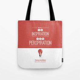 Lab No. 4 - Thomas Alva Edison Quote typography print Inspirational Quotes Poster Tote Bag